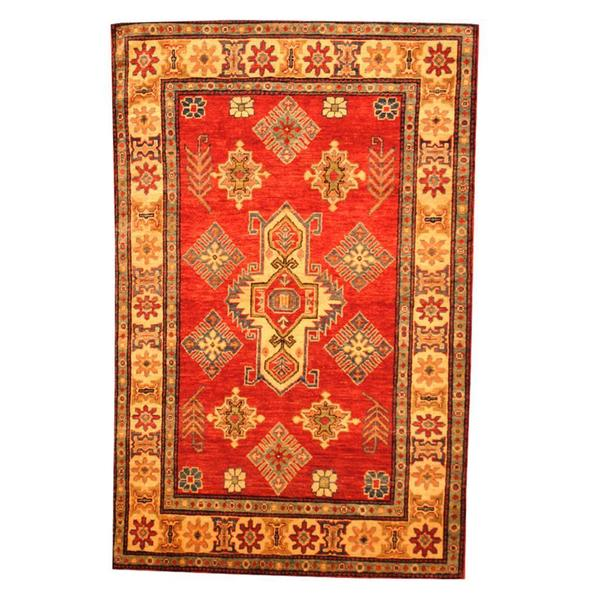 Herat Oriental Hand Tufted Wool Red Black Area Rug: Shop Herat Oriental Afghan Hand-knotted Tribal Kazak Red