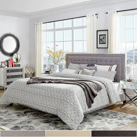 Bellevista Square Button-tufted Upholstered Platform Bed by iNSPIRE Q Bold