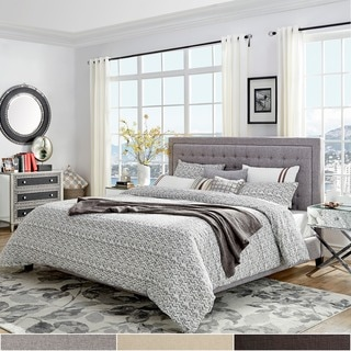 INSPIRE Q Bellevista Square Button-tufted Upholstered Queen-size Bed