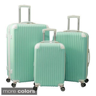 World Traveler 3-piece Rolling Spinner Luggage Set