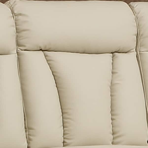 Awe Inspiring Shop Skylar Beige Top Grain Leather Reclining Sofa Loveseat Gmtry Best Dining Table And Chair Ideas Images Gmtryco