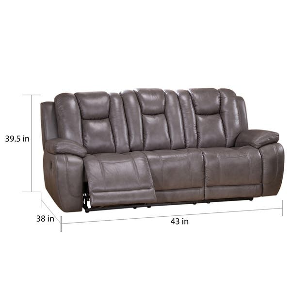 Superb Shop Galaxy Gray Top Grain Leather Lay Flat Reclining Sofa Gamerscity Chair Design For Home Gamerscityorg