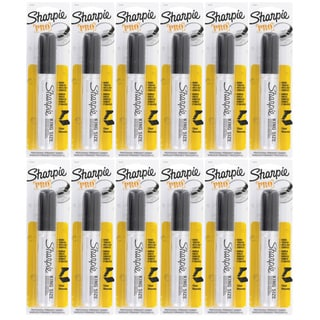 Sharpie Pro King Size Chisel Tip Black Permanent Markers (Pack of 12)