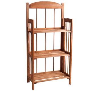 Lavish Home 3-shelf Light Wood Bookcase