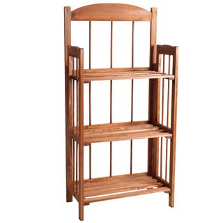 Windsor Home 3-shelf Light Brown Wood Folding Bookcase for Home and Office