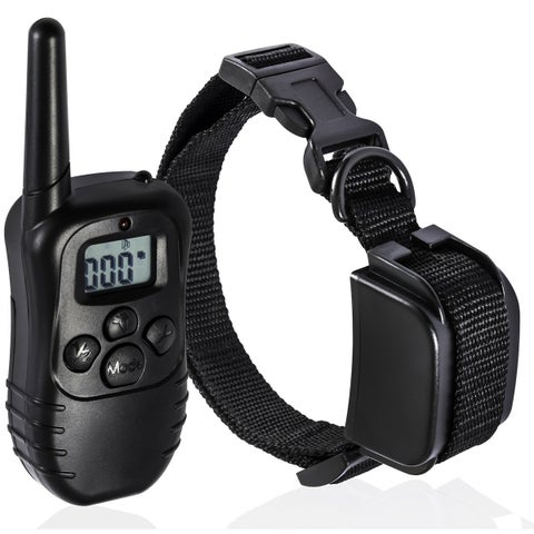 OxGord Black Fabric and Plastic Rechargeable Waterproof Dog Training Collar