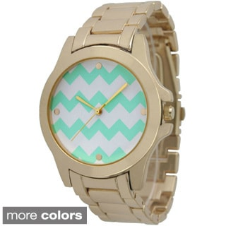 Olivia Pratt Women's 12831 Chevron Boyfriend Watch
