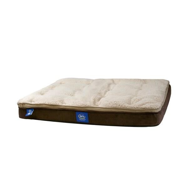 Serta Orthopedic Memory Foam Rectangle Pet Bed Free
