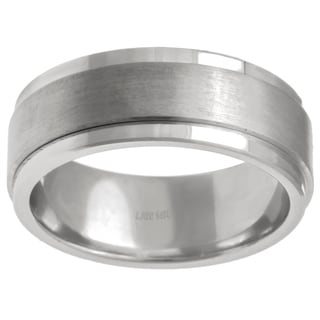 14k White Gold Men's Comfort Fit Wedding Band