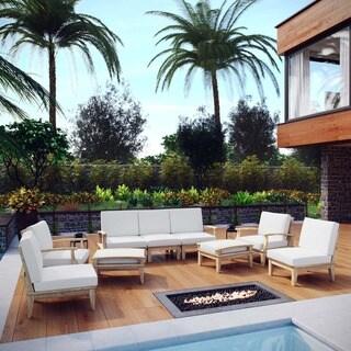 Pier 9-piece Outdoor Patio Teak Sofa Set
