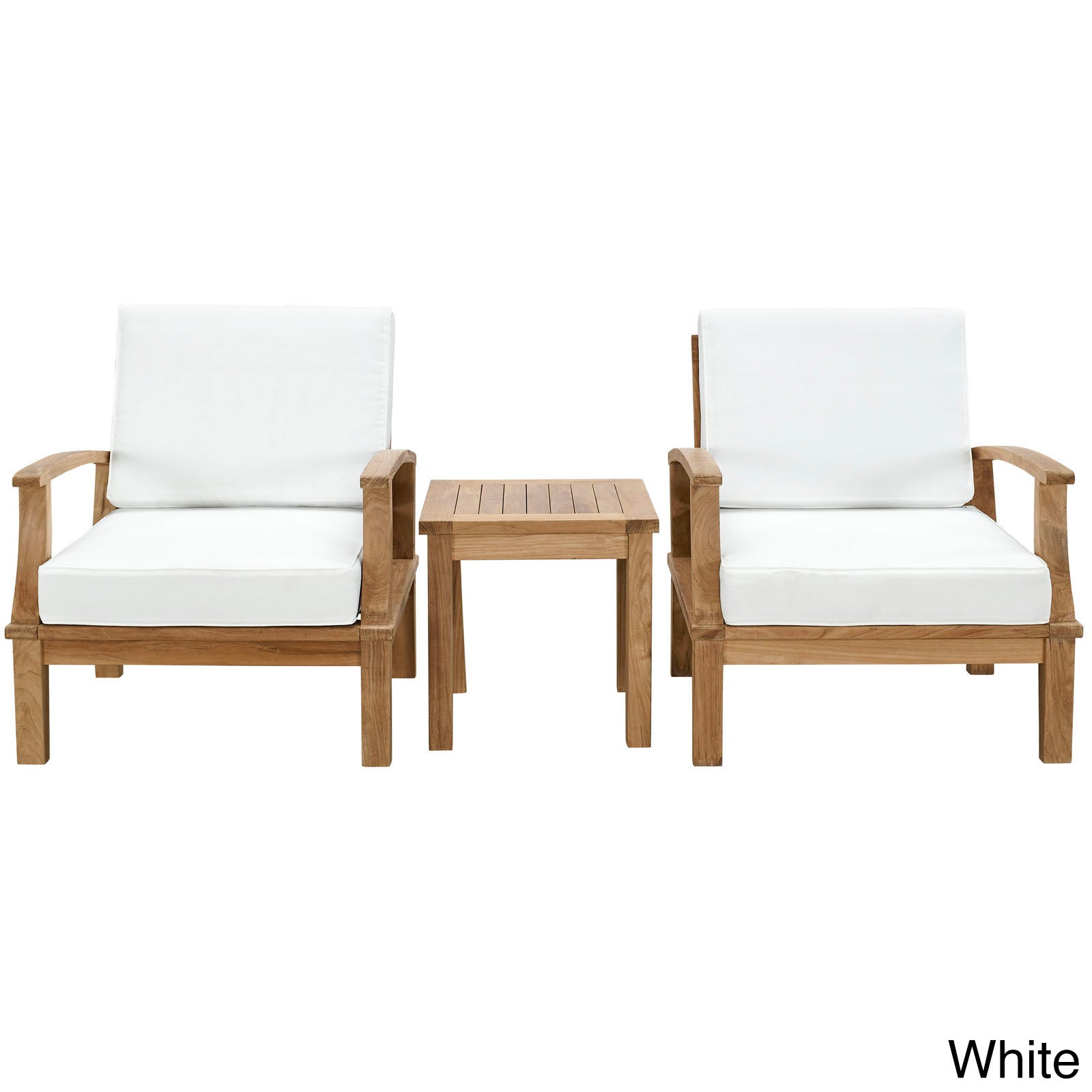 Pier 3 Piece Outdoor Patio Teak Sofa Set