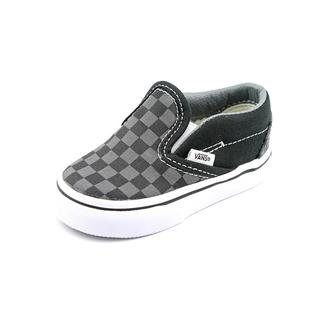 Vans Boy (Infant) 'Classic Slip-On' Basic Textile Athletic Shoe (Size 4 )