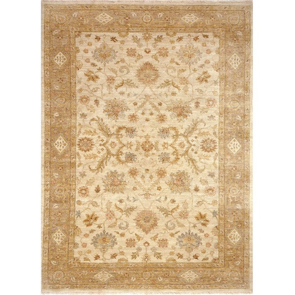 Shop Beige Wool Hand Knotted Oriental Persian Area Rug 6: Shop Hand Knotted Oriental Pattern Ivory/ Beige Wool Area