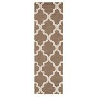"Portland Handmade Trellis Brown/ White Area Rug (2'6"" X 10')"