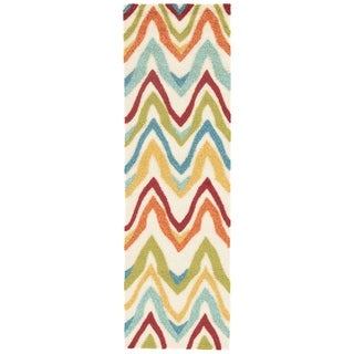 """Sol Indoor/ Outdoor Chevron White/ Multicolor Area Rug (2'6"""" X 8') - 2'6 x 8'"""