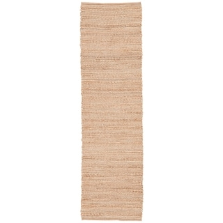 "Solis Natural Solid Tan/ White Area Rug (2'6"" X 9')"