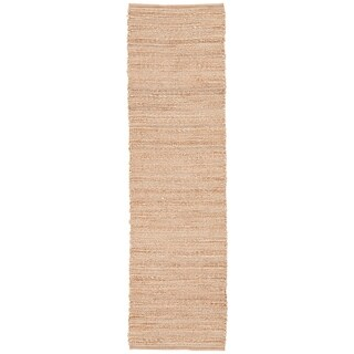 """Solis Natural Solid Tan/ White Area Rug (2'6"""" x 9')"""
