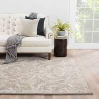 Maison Rouge Brooke Handmade Damask Grey Area Rug (3'6 x 5'6)