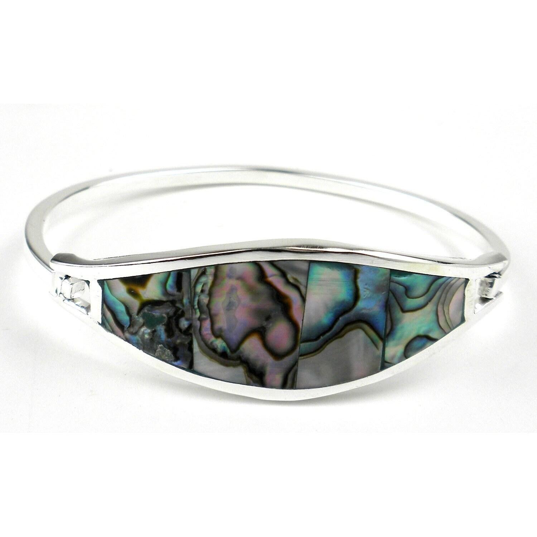 Global Crafts Handmade Pacific Blue Abalone Clip Bracelet...