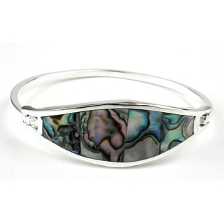 Handmade Pacific Blue Abalone Clip Bracelet (Mexico)