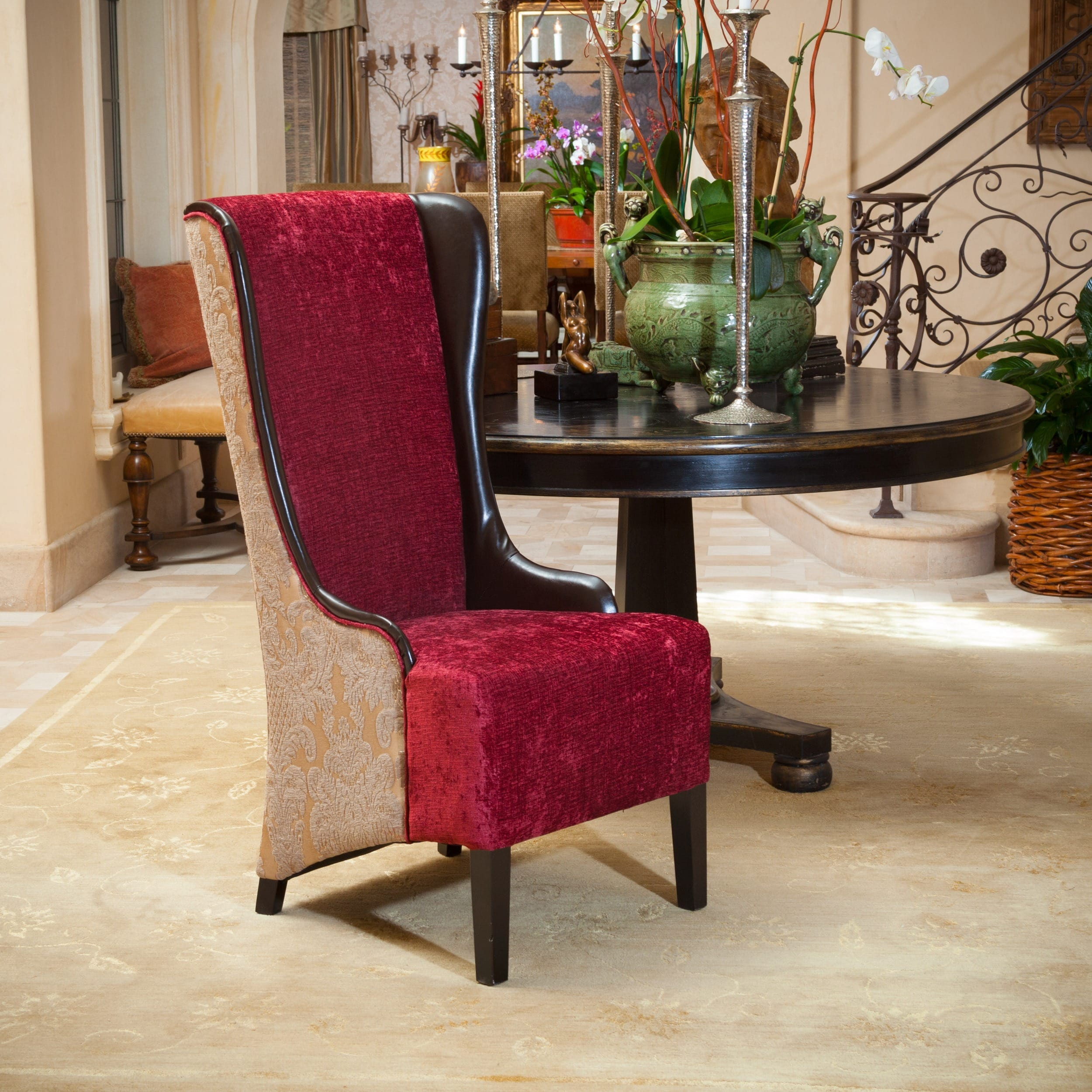 Bacall High Back Chair By Christopher Knight Home