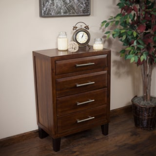 Luna Acacia Wood Four Drawer Chest by Christopher Knight Home