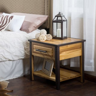Luna Acacia Wood One Drawer End Table by Christopher Knight Home