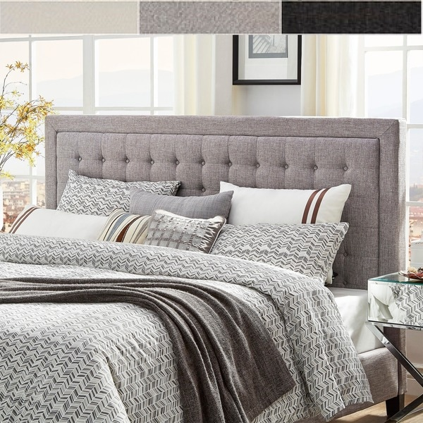 Bellevista Button Tufted Square King Upholstered Headboard