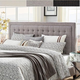 INSPIRE Q Bellevista Button-tufted Square King Upholstered Headboard