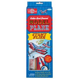 Rubber Band Powered Stunt Flier Model Plane Kit