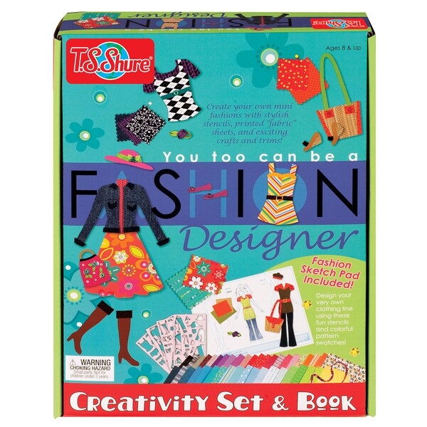 You Too Can Be A Fashion Designer Set and Book
