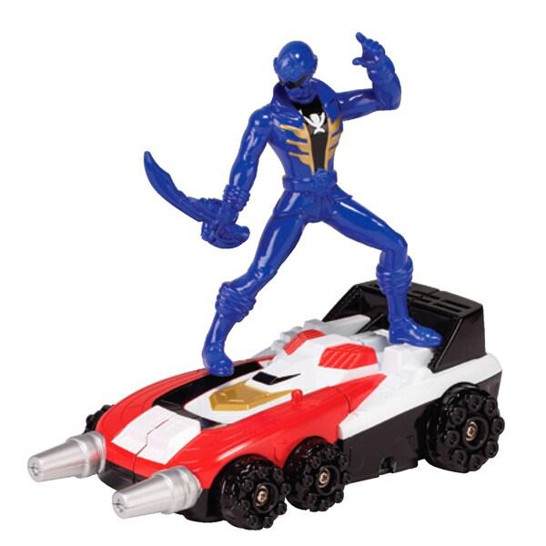 Power Rangers Delta Runner Zord and Blue Ranger