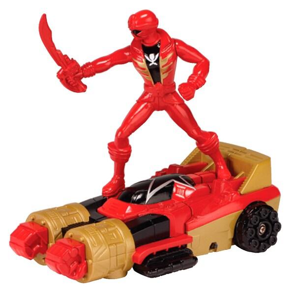 Power Rangers Zeo Racer Zord and Red Ranger