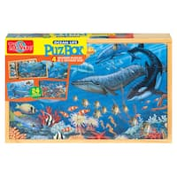 Ocean Life Large Puzzle in a Wood Box Set