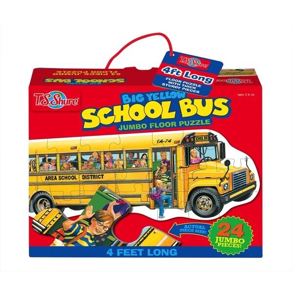 T.S. Shure Big Yellow School Bus Jumbo Floor Puzzle