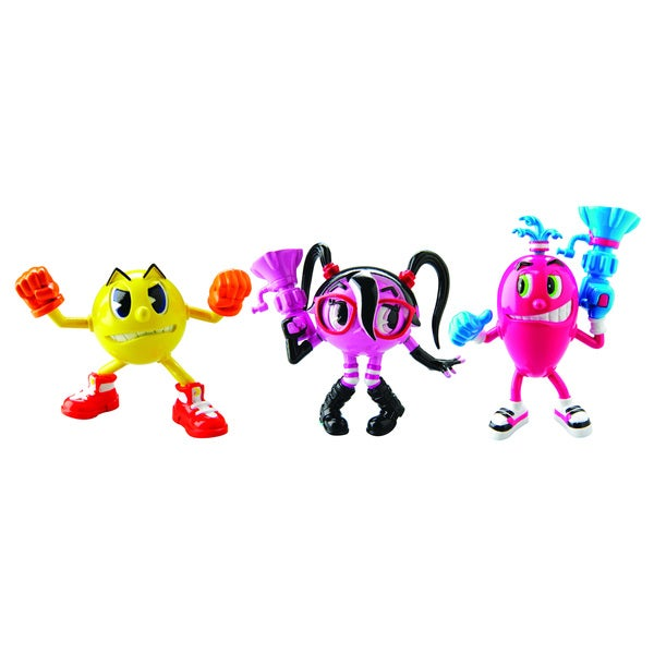Bandai Pac-Man Pac, Cylindria and Spiral Action Figure