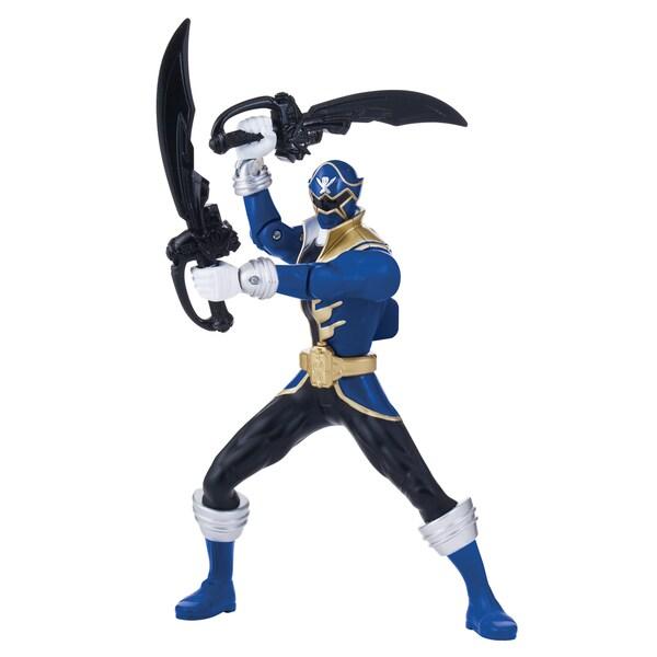 Bandai Power Rangers Double Battle Action Blue Ranger