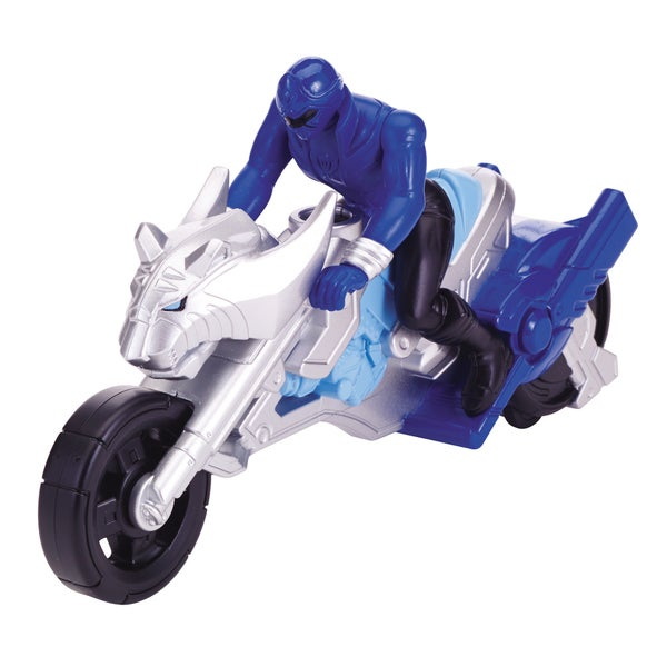 Power Ranger Jungle Fury Cycle and Blue Ranger