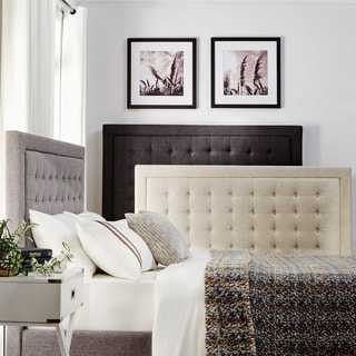 Bellevista Square Button-tufted Upholstered King-size Bed by iNSPIRE Q Bold