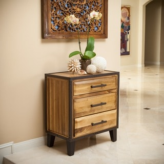 Christopher Knight Home Luna Acacia Wood Three Drawer Cabinet