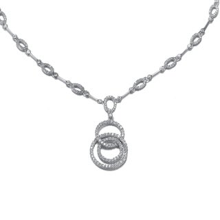 Collette Z Sterling Silver Cubic Zirconia Mirco Pave-set Necklace