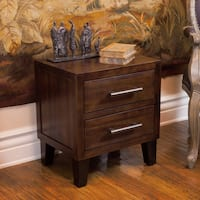 Luna Acacia Wood 2-drawer End Table by Christopher Knight Home