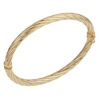 Fremada 10k Yellow Gold 5-mm Swirl High Polish Bangle