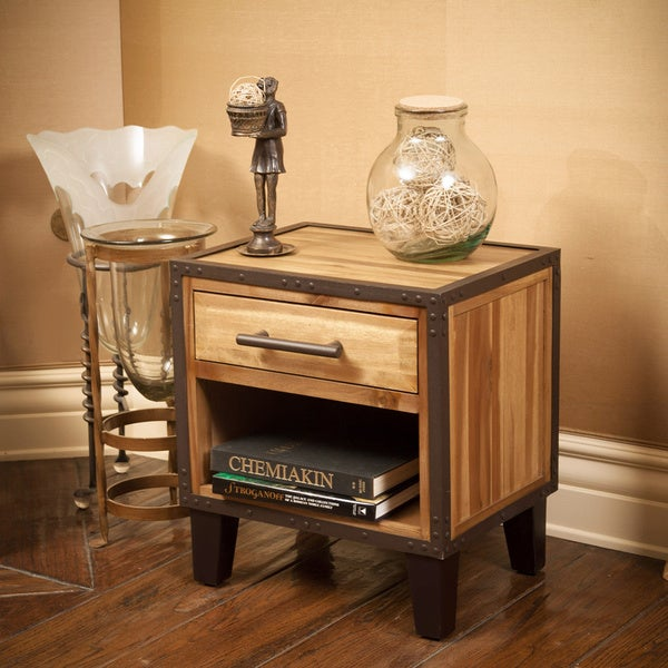 Luna Acacia Wood End Table by Christopher Knight Home. Luna Acacia Wood End Table by Christopher Knight Home   Free