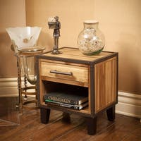 Luna Acacia Wood End Table by Christopher Knight Home