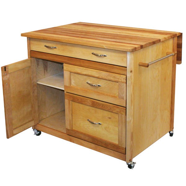 Awesome Shop Deep Drawer Hardwood Kitchen Island Free Shipping Squirreltailoven Fun Painted Chair Ideas Images Squirreltailovenorg