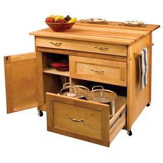 Deep Drawer Hardwood Kitchen Island