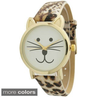 Olivia Pratt TomCat Dial Leather Watch (3 options available)