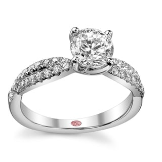 Demarco 18k White Gold 1 1/4ct TDW Designer Diamond Engagement Ring