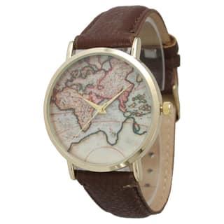 Olivia Pratt Women's Travelers Leather Watch|https://ak1.ostkcdn.com/images/products/9392722/P16581568.jpg?impolicy=medium